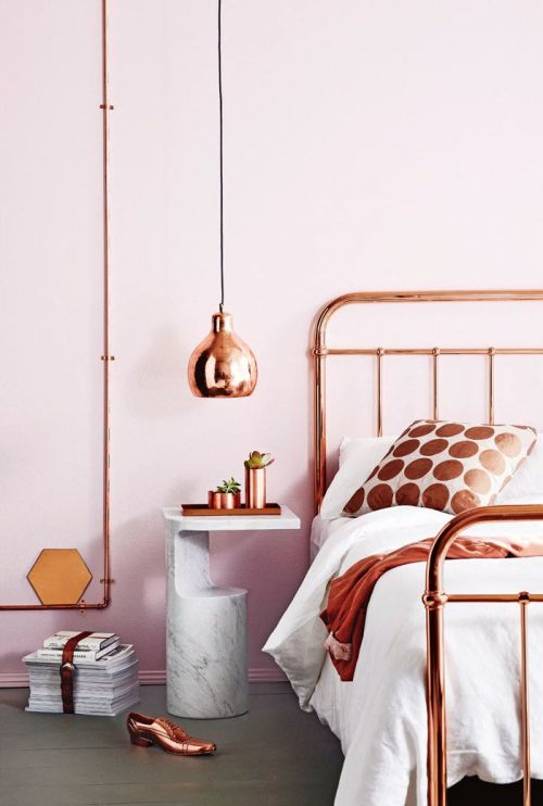 copper bedroom ideas