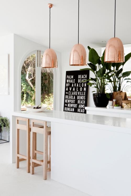 copper kitchen lights